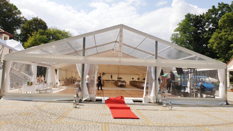 Wynajmujemy halę namiotową na wesele